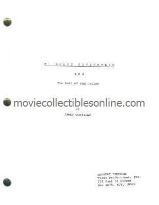 F. Scott Fitzgerald: The Last of the Belles Script