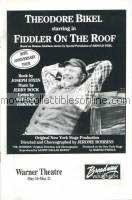 Fiddler on the Roof Program